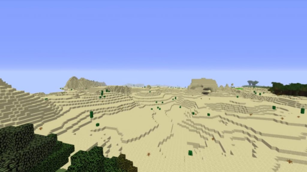Desert Cave and the village Seed