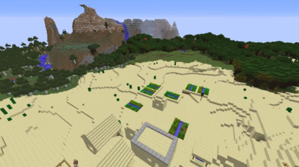 Desert Cave and the village Seed | Minecraft PE Seeds