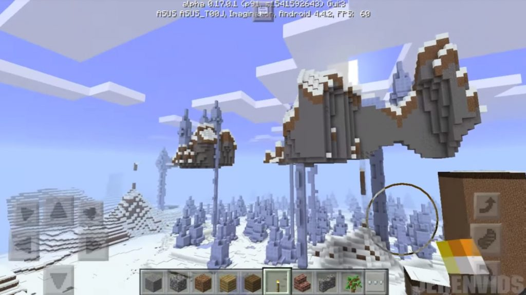Shelter in the snow biome seed