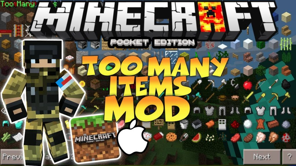 Too Many Items Mod [ToolBox] | Minecraft PE Mods