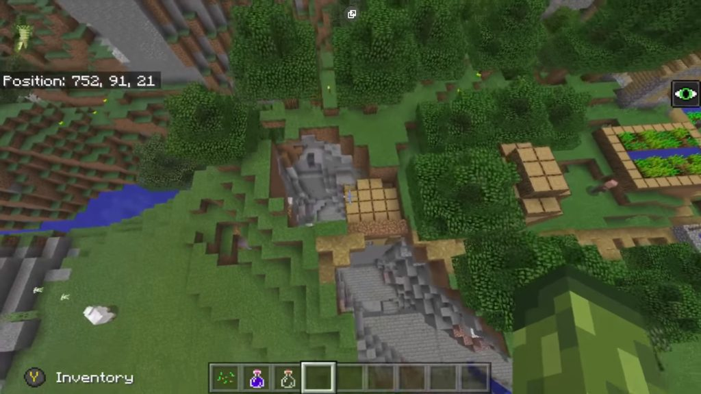 Village At Spawn & Stronghold Seed | Minecraft PE Seeds