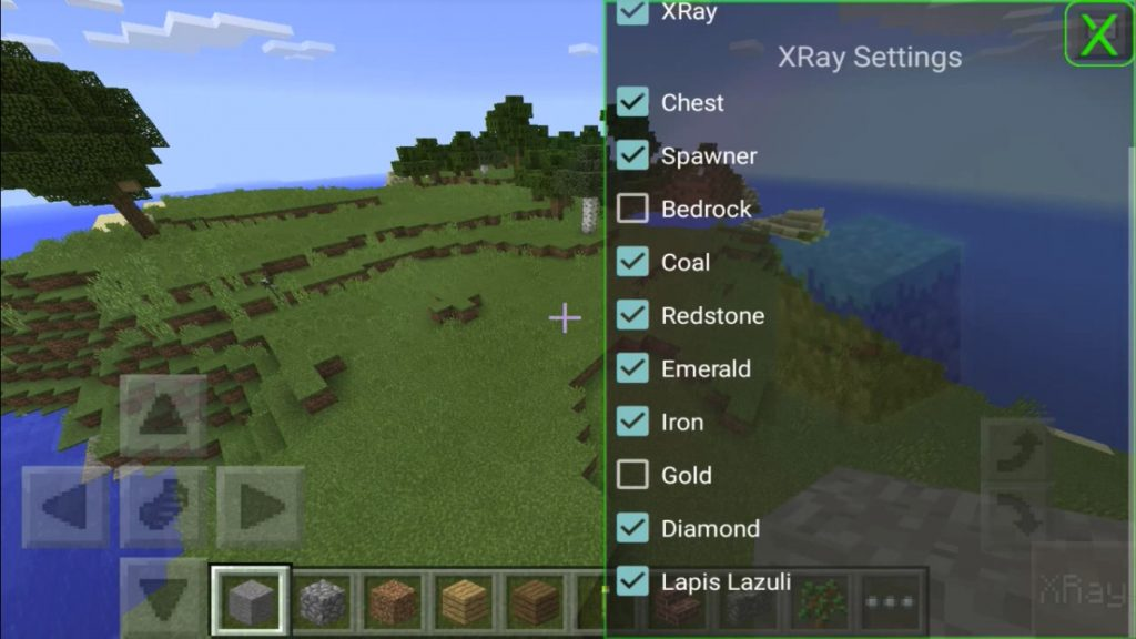 minecraft bedrock edition xray mod