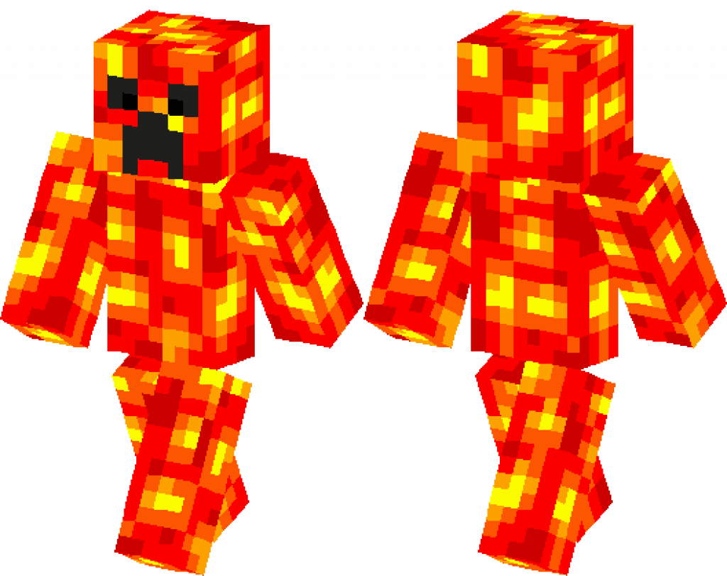 майнкрафт скин lava creeper #1