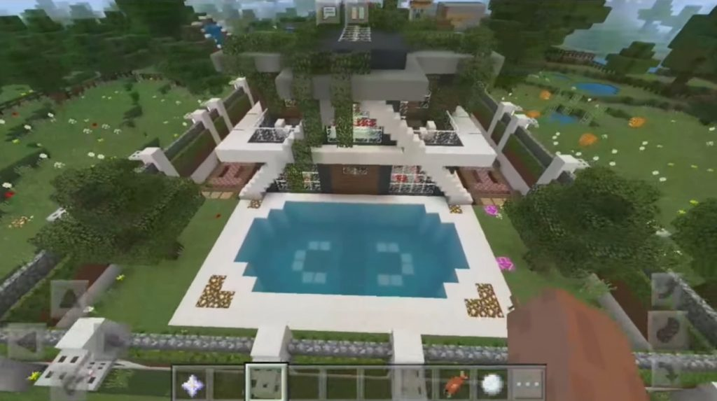 My Redstone Smart House Map Minecraft Pe Maps