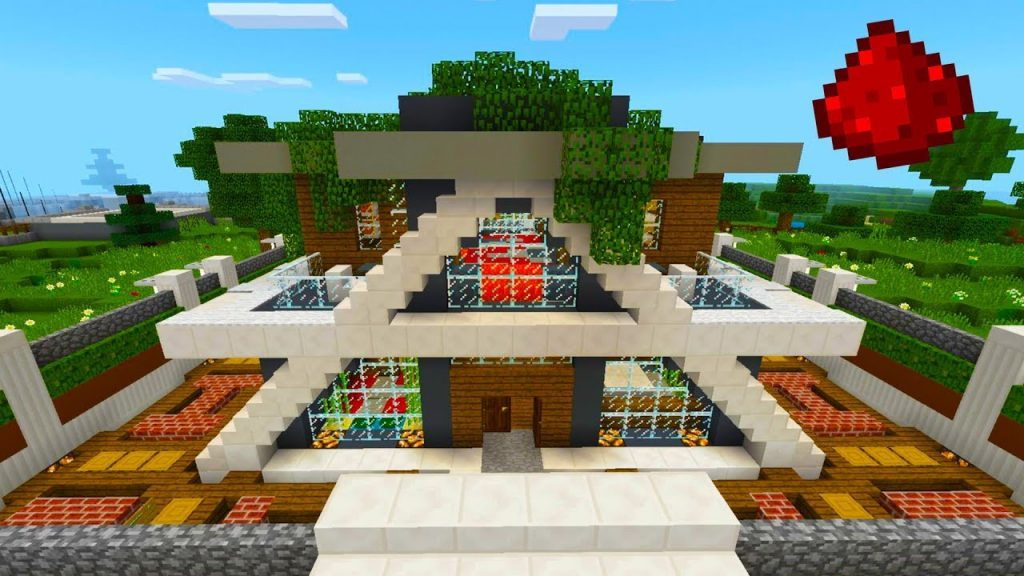 My Redstone Smart House Map | Minecraft PE Maps
