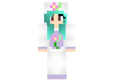 Flower Unicorn Girl Skin