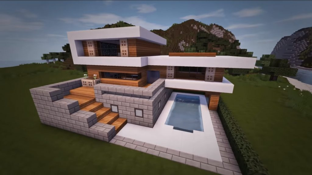 Woodlux Modern House Map Creation Minecraft Pe Maps