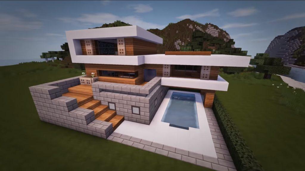 Woodlux Modern House Map Creation Minecraft Pe Maps