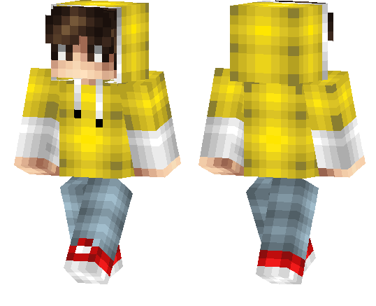 Yellow Hoodie Skin | Minecraft PE Skins