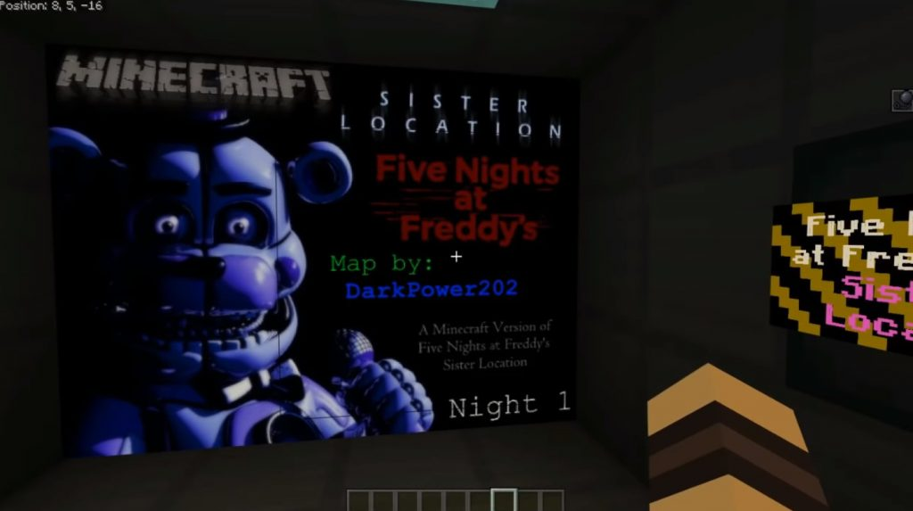 Five Nights at Freddy's: Sister Location - Night 1 Map | Minecraft