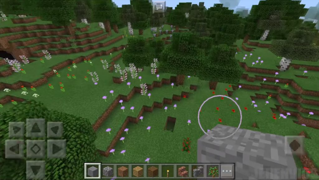 Flowers and Caves Seed   Minecraft PE Seeds
