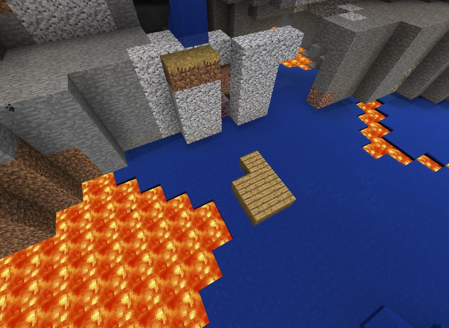 Huge ravine with lava Seed