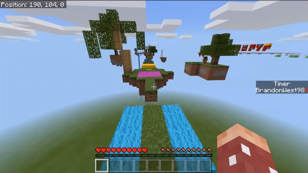 10 Second Parkour by Blu Map | Minecraft PE Maps
