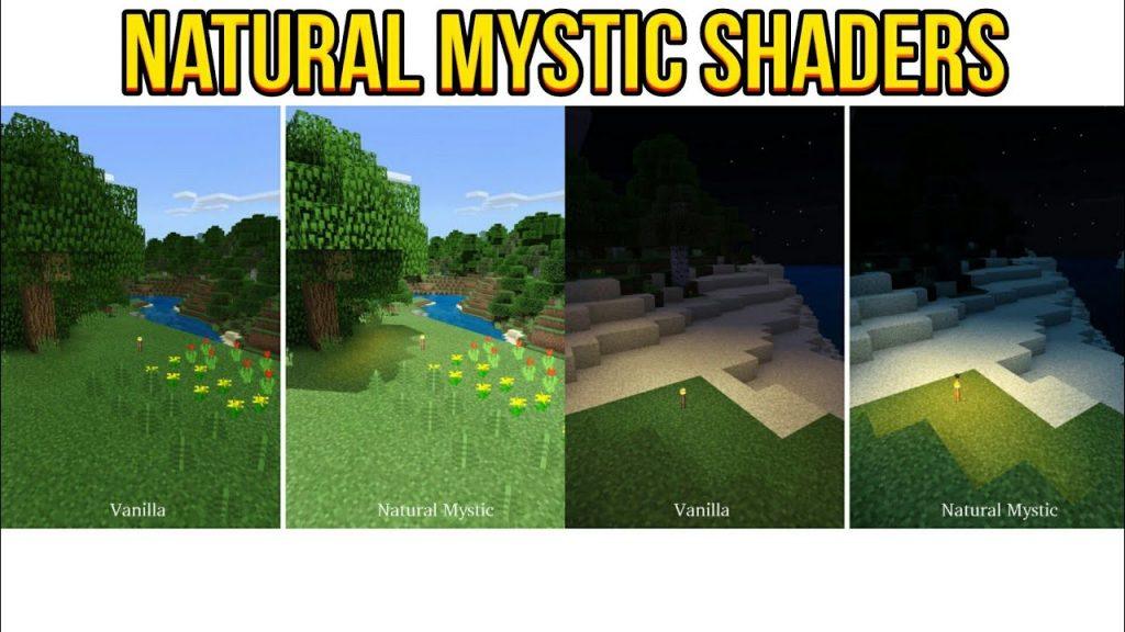 Natural Mystic Shaders Texture Pack for Minecraft PE