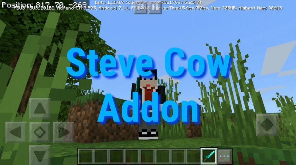 Steve Cow Addon