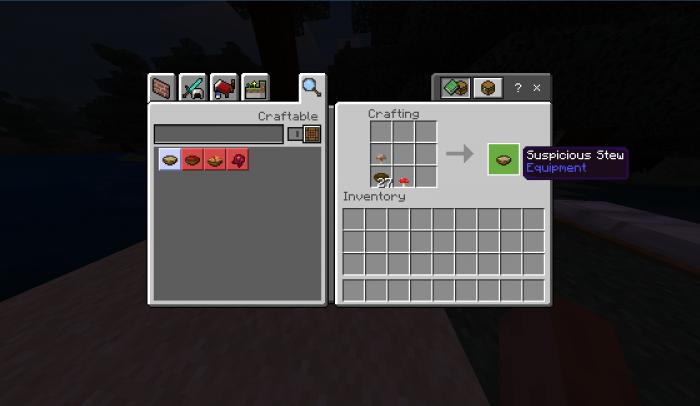 Suspicious Stew Mod(addon) Minecraft PE Addons