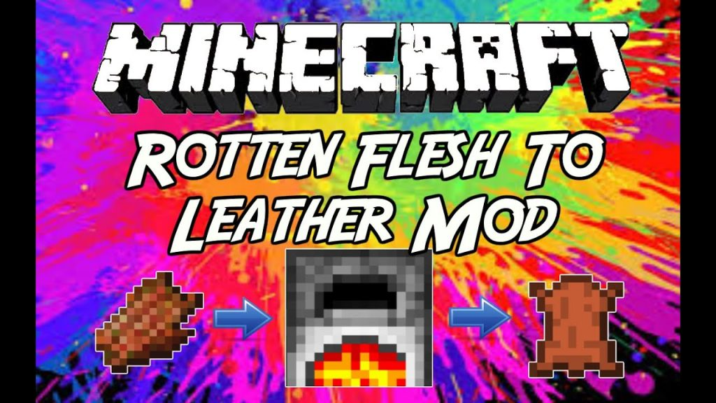 Rotten Flesh For Leather Furnace Addon