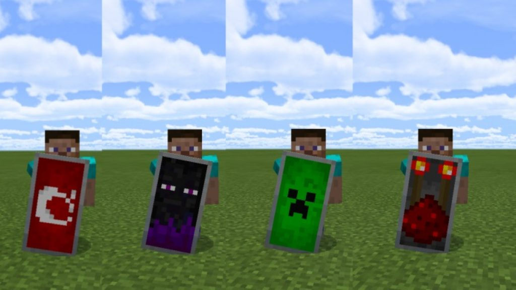 Custom Shield Pack 1&2 Mod | Minecraft PE Addons, Minecraft