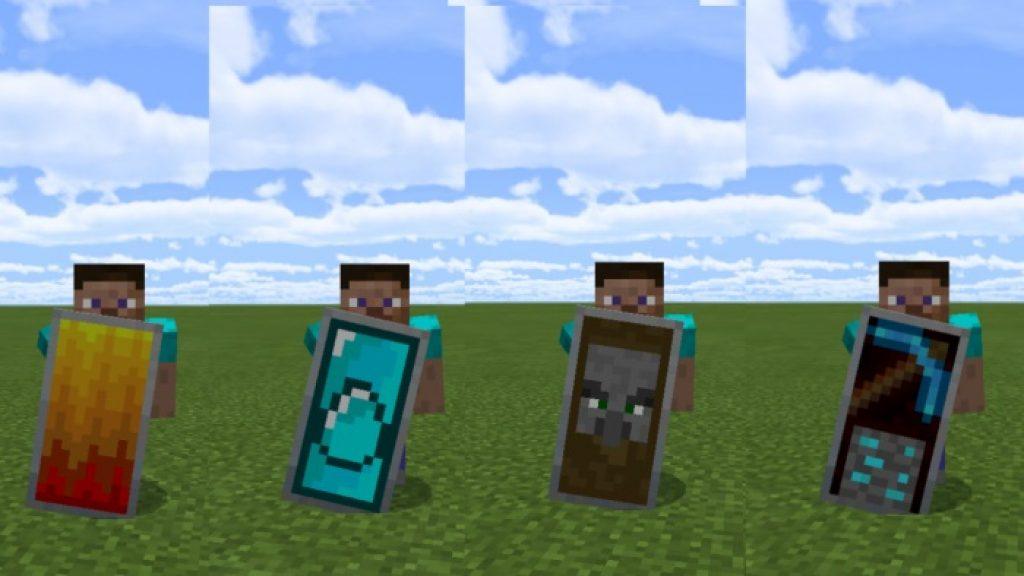 Custom Shield Pack 1 2 Mod Minecraft Pe Addons Minecraft Pe Mods