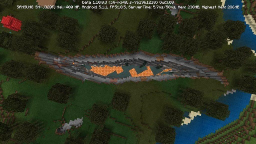 Huge Swamp Ravine Seed | Minecraft PE Seeds