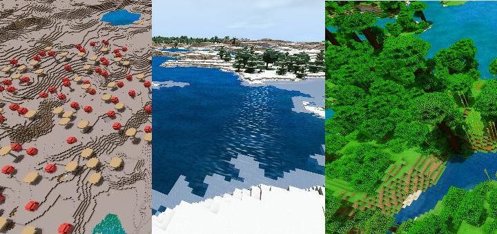 Three Endless Biomes Mod