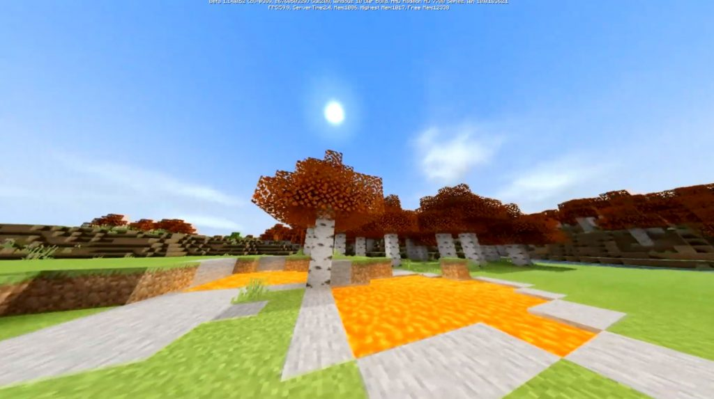Autumn Birch Texture Pack
