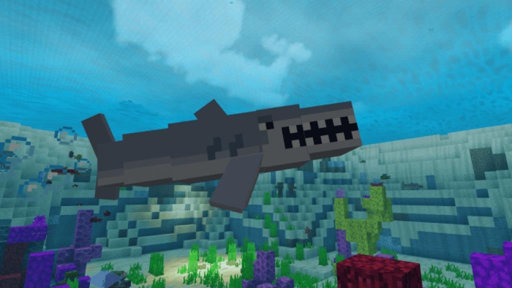 Shark Addon Minecraft PE Bedrock Addons