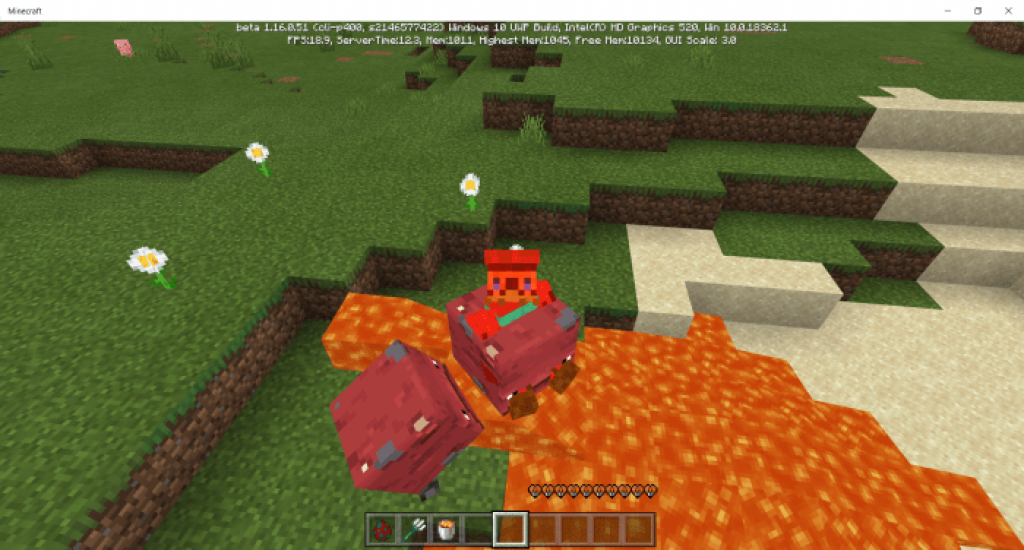 Strider Mob Minecraft Nether Update Concept Mod