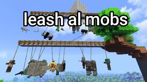 LEASH ALL MOBS Addon