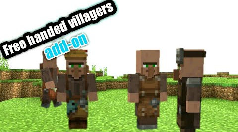 Free Handed Villagers and Illagers Mod