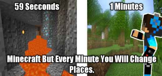 Minecraft But Every Minute You Will Change Places Map